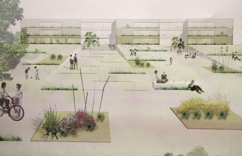 """Präsentation der Projekte des Architekturwettbewerbs """"Bildungscampus Seestadt Aspern"""" mit StR. Christian Oxonitsch"""