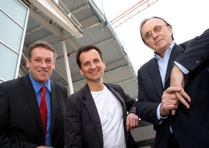 Dachgleichenfeier der Albert Schultz Halle mit StR. Christian Oxonitsch und BV Norbert Scheed