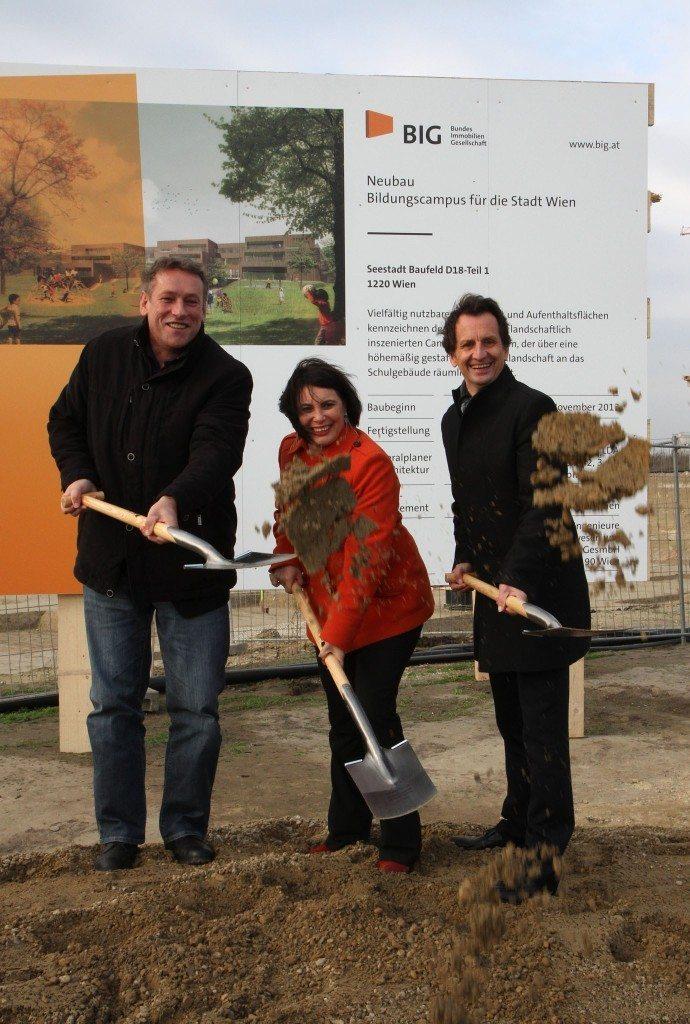 aspern Seestadt - Baustart für Wiens größten Bildungscampus